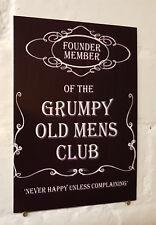 Grumpy Old Mans Club Jack Daniels Whiskey Signo de Aluminio de Metal Retro signos de cerveza