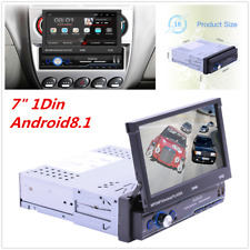 """7"""" 1Din Retractable Car GPS Radio Bluetooth Wifi Multimedia Player Android8.1"""