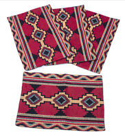 Azteca Jacquard Southwestern Design Place Mats Set of 4 13x19 inches