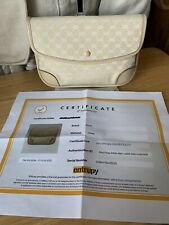 Gucci GG Canvas & Leather Clutch W/ Certificate Of Authenticity