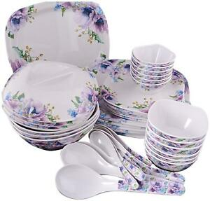 OSG Beautiful Dinner Set Double Caoted Set of 40 pieces : By Gallery-Bka