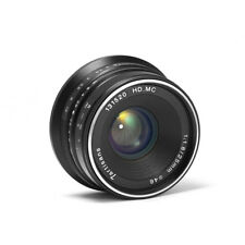 7artisans 25mm/f1.8 Manual Lens 12 Blades F Panasonic/Olympus M4/3 Mount (Black)