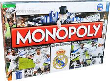 Monopolio Real Madrid CF versión en inglés Fútbol Fútbol Juego de Tablero de Ronaldo Bale