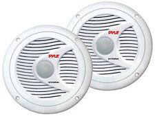 New Pyle PLMR60W Pair 150Watts 6.5'' 2 Way White Marine Boat Waterproof Speakers