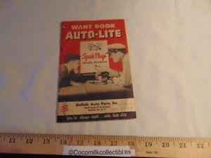 Vintage 1949 Want Book Auto Lite Spark Plugs Note Pad Dulfalk Parts Buffalo NY