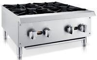 "Chef's Exclusive 24"" 4 Burner Commercial Countertop Hot Plate 100,000BTU LP GAS"