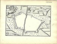 Antique map, Narbone (Narbonne)