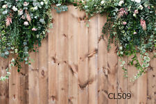 Rustic Wood Board Leaves Flowers 7X5FT Vinyl Photo Background Studio Backdrop LB
