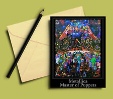 Metallica Master of Puppets Greeting Card