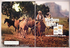 Marlboro Lights Cigarette 2-Page PRINT AD - 1984 ~~ Marlboro Man, Country