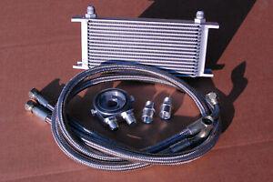 Universal High Performance Oil Transmission Cooler Kit Billet Plate Fittings RAD