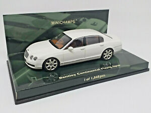 MINICHAMPS 1/43 - BENTLEY CONTINENTAL FLYING SPUR - Art. 436139461 white blanco