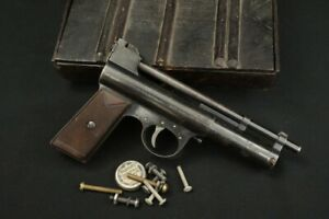 British Webley Air Pistol Mark II Target Model, Multi Pump .177 Cal #17934 & Box