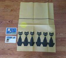 Lot Of 3 Ephemera/ Paper Halloween Items-Postcards & Small Table Runner