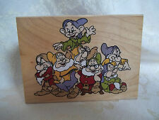 Seven Dwarfs mounted unused stamp Disney All Night Media 970-J01 Snow White 4x3""