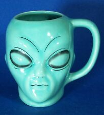 Alien Coffee Cup Turquoise Mug 8 oz Extraterrestrial Outer Space