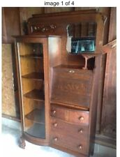 "Antique Quarter Sawn Tiger Eye Oak Secretary. A ""Real Show Stopper""!"