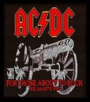 OFFICIAL LICENSED - AC/DC - FOR THOSE ABOUT TO ROCK SEW ON PATCH ANGUS