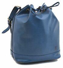 Authentic Louis Vuitton Epi Noe Blue Shoulder Bag LV A7276