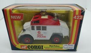 Corgi red/white Riot Police No. 422 Made in Hong Kong 1977 MIB