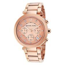 Horloge Femme Michael Kors MK5277 Poignet Sangle or Rose Acier Chronographe