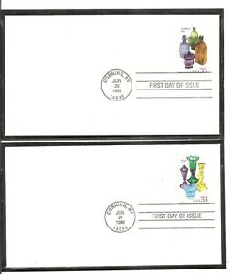 US SC # 3325-3328 American Glass FDC . Ready For Cachet
