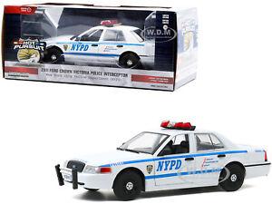 BoxDamage 2011 FORD CROWN VICTORIA INTERCEPTOR POLICE NYPD 1/24 GREENLIGHT 85513
