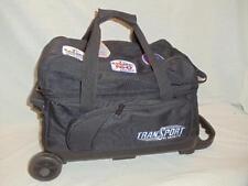 USED Transport by Ebonite Black 2 Ball Roller Bowling Storage Bag w/ Wheels