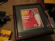 FRED (BOOM BOOM) COUPLES SIGNED AUTOGRAPH 1990 GOLF DIGEST MAGAZINE PRO FRAMED