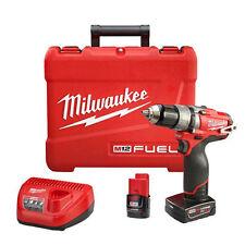 "Milwaukee 2404-22 12V Li-Ion 1/2""  Cordless Drill/Driver Kit"