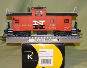 K-Line 613-1791 New Haven Smoking Extended Vision Caboose (Scale O) wks / Lionel
