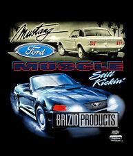 """""""Still Kickin' Mustang"""" Black Tee Front Print 9234"""