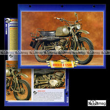 #144.12 Fiche Moto HERCULES K 125 BW (BUNDESWEHR) 1970-1989 Motorcycle Card