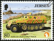 HANOMAG SdKfz 251 - Ausf C Half Track Army Military Vehicle WWII War / Car Stamp