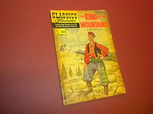 CLASSICS ILLUSTRATED #127 - THE KING OF THE MOUNTAINS - HRN #166