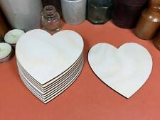 WOODEN HEARTS Shapes 11.4cm (x10) laser cut wood cutouts crafts blank shape