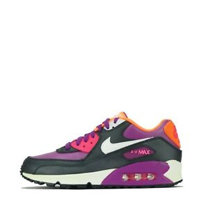 Nike Air Max 90 2007 Junior Youth Trainers Shoes Berry UK 5.5