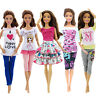 5 Set Handmade Fashion Outfit Daily Casual Wear Clothes For 11.5 in. Girl Doll