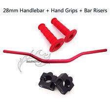 """1 1/8"""" Fat Handle Bar Pad Clamp Risers Taper Hand Grip For Dirt Bike Motocross"""