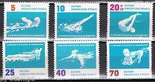 1962 DDR 907-912 EK zwemmen / EC  swimming