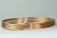VINTAGE 14K ROSE GOLD OVAL SLIP ON BANGLE BRACELET 11 GRAMS