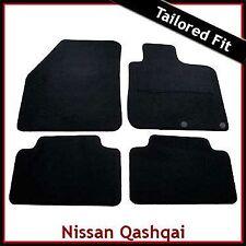 NISSAN QASHQAI Mk1 5-Seater 2007-2014 Tailored Carpet Car Floor Mats BLACK