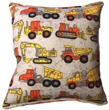 Truck Pillow Construction Dump Truck Trucks Tonka Style Pillow HANDMADE In USA