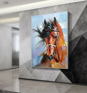 LL929 Canvas modern decor art oil painting Horse Hand-painted