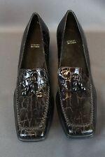 Stuart Weitzman Loafer Heel Shoe Oxford Brown Size 8B