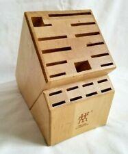 Zwilling JA Henckels Wood Knife Block Wooden Holder 20 Slot Organizer Storage