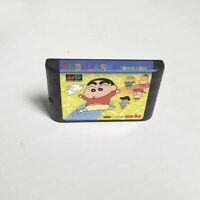Crayon Shin-chan (1994) 16 bit Game Card For Sega Genesis / Mega Drive System