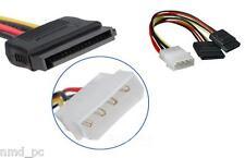 Molex To SATA Dual Power Twin Splitter Internal PC, IDE to twin SATA Power Cable