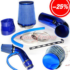 "2.5""-3.0"" UNIVERSAL COLD AIR Intake INDUCTION HOSE KIT System & Narrow Filter BL"