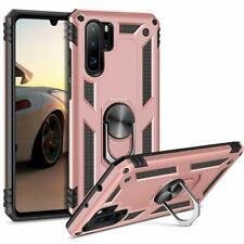 HUAWEI P30 PRO PHONE ARMOUR CASE COVER RING BRACKET MAGNETIC CAR MOUNT ROSE GOLD